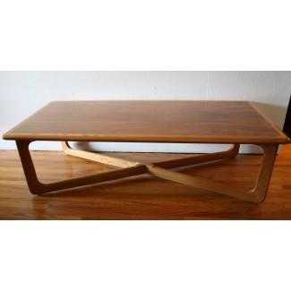Mediados de siglo Modern Cross Base Coffee Table de Lane ...