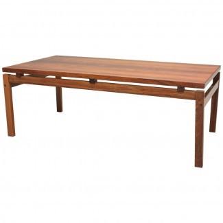 Mid Century Modern Rosewood Coffee Table en 1stdibs