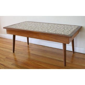Mesa de centro Mid Century Modern Tile Top | Picked Vintage