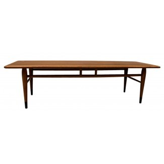 Mesa de centro LANE de muebles modernos de mediados de siglo con incrustaciones ...