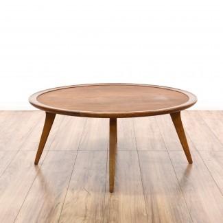 Mesa de centro redonda redonda de mediados de siglo | Loveseat Vintage ...