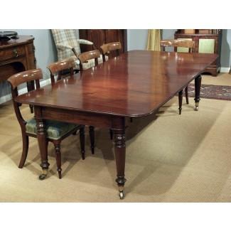 Mesa de comedor de caoba antigua de 12 plazas, mesa grande ...