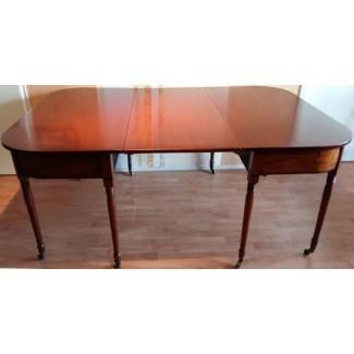 Mesa de comedor para 12 personas de caoba New Art con dos extensiones ...