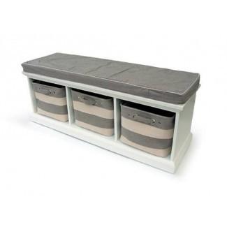 60 banco de almacenamiento con cojines bancos interiores y exteriores ...