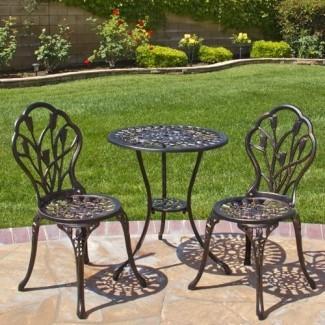 Best Choice Products Muebles de patio al aire libre Diseño de aluminio fundido Bistro Set