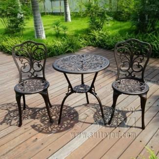 Venta de muebles de patio de aluminio fundido. Exterior de aluminio fundido ...