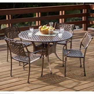 Muebles para patio Sofá con asientos profundos Nassau de aluminio fundido ...