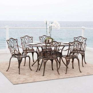 Muebles de patio Sofá con asiento profundo Nassau de aluminio fundido ...
