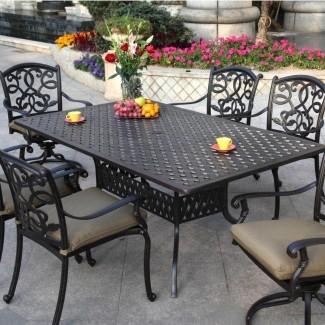 Mesa de comedor: Mesa de comedor para patio Aluminio fundido