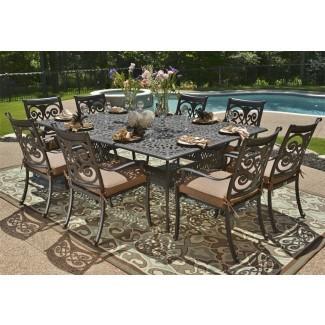 Muebles de patio de aluminio fundido Fabricantes Awesome ...