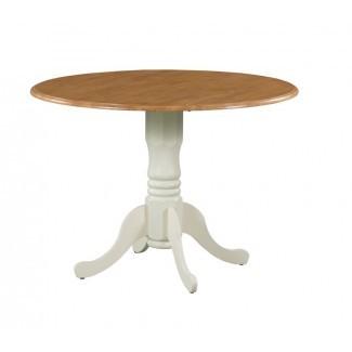 Muestra la mesa de comedor Drop Leaf de madera maciza