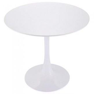 """Tobbi Mesa de comedor redonda de tulipán de 32 """"pulgadas Mesa de centro en muebles elegantes blancos"""