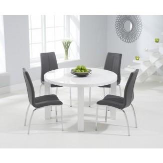 20 Mejores mesas y sillas de comedor High Gloss White |