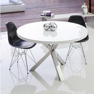 7 Mesas de comedor modernas redondas blancas - Muebles lindos