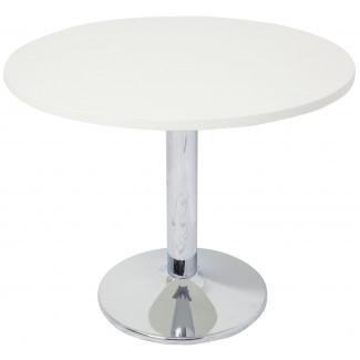 Mesa de reunión redonda con base de cromo | Office Stock