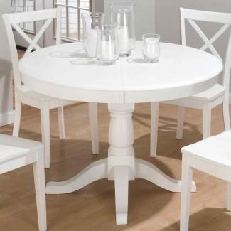pequeñas mesas de cocina blancas |