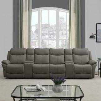 Cheryll - Sofá reclinable Hugger de pared, 4 asientos,