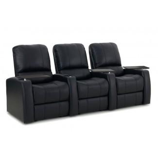 Sofá de cuero para cine en casa (fila de 3)