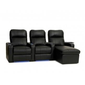 Sofá de cuero para cine en casa Power Recline (fila de 3) (juego de 3)