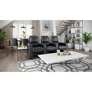 Sofá de cine en casa reclinable basculante manual (fila de 3)