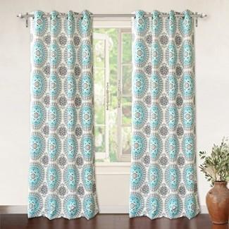 DriftAway Drift Away Bella Room Oscurecimiento de la arandela de cortinas de ventana sin forro, juego de dos paneles, cada uno