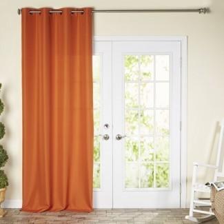 Panel de cortina simple de oscurecimiento exterior de color sólido Ponce De Leon