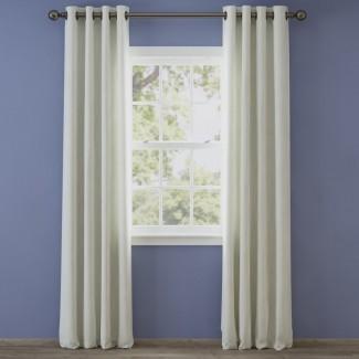 Irene Solid Semi-Sheer Thermal Grommet Panel de cortina simple