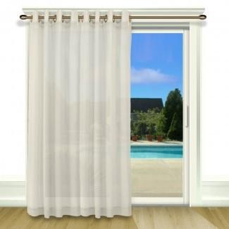Panel de cortina individual Bal Harbour Patio Solid Semi-Sheer Grommet