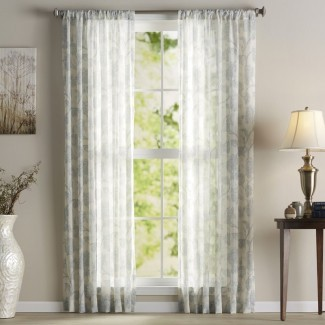 Keystone Nature / Panel de cortina simple con bolsillo de varilla transparente