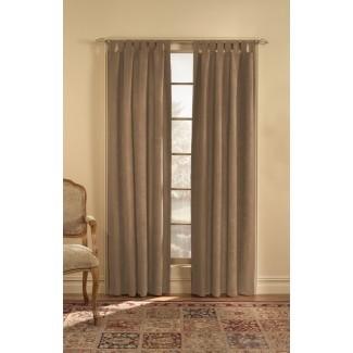 Trilby Solid Semi-Sheer Tab top Panel de cortina simple