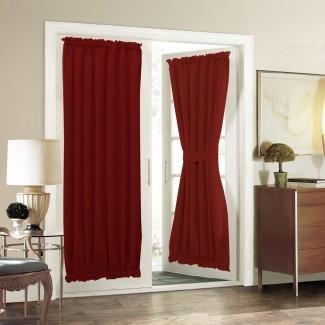 Panel de cortina de puerta francesa para privacidad - Aquazolax Solid ...