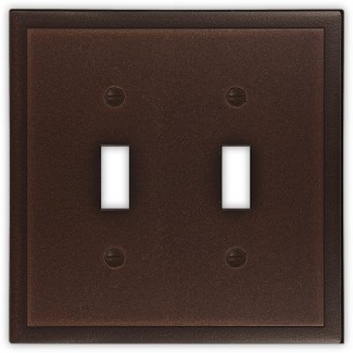 Tapa del interruptor de luz doble metálica decorativa ambiental
