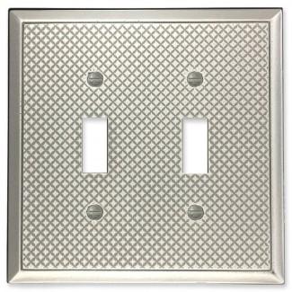 Cubierta de interruptor de luz de palanca doble de metal decorativo Pyramid