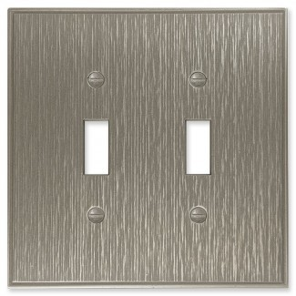 Cubierta de interruptor de luz de palanca doble de metal decorativo de sarga