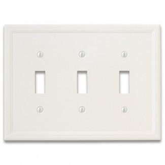 Cubierta de interruptor de luz de palanca triple con aislamiento de cornisa