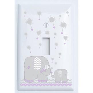 Cubierta de placa de interruptor de luz de elefante de diente de león