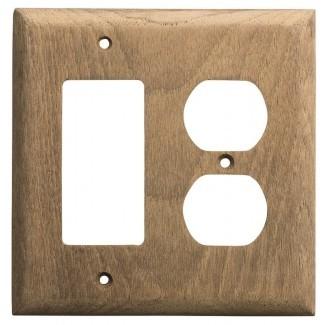 Tapa del interruptor de la luz basculante de teca