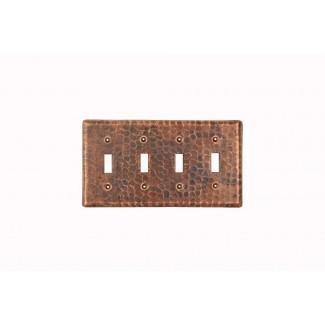 Tapa de interruptor de palanca cuádruple de placa de interruptor de cobre