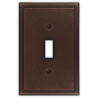 Cubierta del interruptor de la luz de palanca simple de metal decorativo ambiental