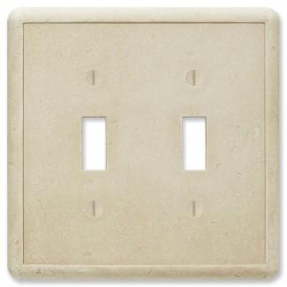 Cubierta del interruptor de la luz de doble palanca con textura giratoria