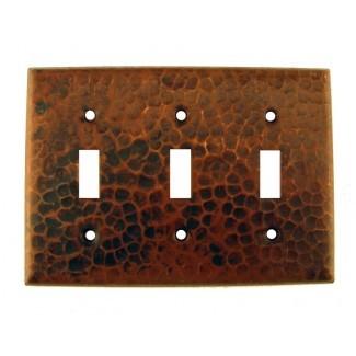 Cubierta de interruptor de palanca triple de placa de interruptor de cobre