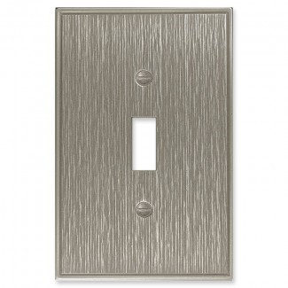 Tapa del interruptor de luz de palanca única de metal decorativo de sarga