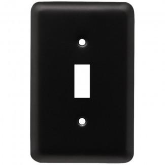 Placa de pared del interruptor simple redonda estampada