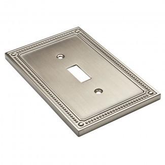 Placa de pared de interruptor simple con cuentas clásicas
