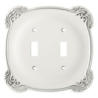 Franklin Brass 144386 Arboresque doble interruptor de palanca Placa de pared / placa del interruptor / cubierta