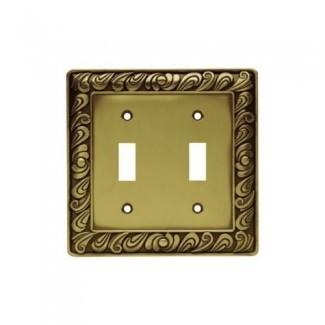 Brainerd 64040 Pared de interruptor doble Paisley Placa / Interruptor Placa / Cubierta