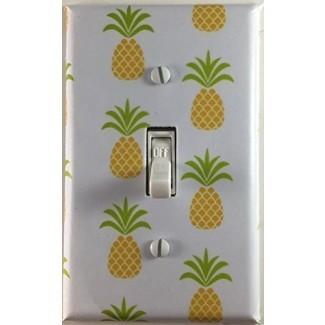 Placa de pared con interruptor de luz simple decorativa de fruta de piña