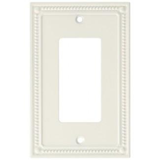 Franklin Brass W35060-PW-C Classic Placa decorativa de pared con un solo decorador / Placa de interruptor / Cubierta, Blanco