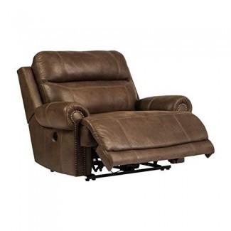 Ashley Furniture Signature Design - Silla reclinable austera - Oversized - Manual Pull Tab Recliner