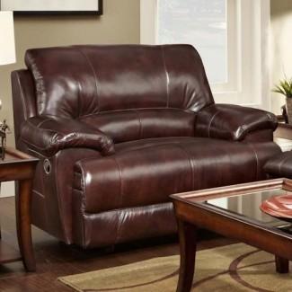 Silla y medio sillón reclinable con estilo informal - Caswell